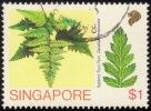 SINGAPORE 1990 FERN - Rabbit's Foot  $1 Sc.587 Used [RM300] - Singapore (1959-...)