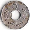 5 MILS Palestine British Administration Coin, 1946. XF - Israël