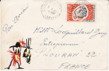 Enveloppe Daoula 1971,jolie Peinture à La Main,affranchissement Poisson Drepane Africana - Cameroon (1960-...)