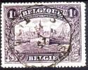 145a 1F Anvers - L´Escaut Et La Cathédrale N-D - Obl. Octogonale 25 V 192.... - Used Stamps