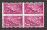 ES1174-A321Spain Espagne SUPER-CONSTELLATION Y NAO SANTA MARIA 1955/56.(Ed.1174**)sin Charnela LUJO  BLOQUE DE 4 - 1931-50 Nuevos & Fijasellos