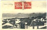 REF LPU10 / 1 - PORTUGAL - CPA RECOMMANDEE LAGOS / MAJUNGA JANVIER 1937 - Postmark Collection