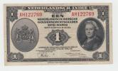 NETHERLANDS INDIES 1 GULDEN 1943 VF++ CRISP Banknote P 111 - Dutch East Indies