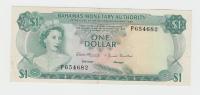 Bahamas 1 Dollar Banknote 1968 VF++ P 27 - Bahamas