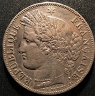 5 Francs Cérès 1849 BB,  Argent, TTB - J. 5 Francs