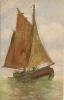R / 39 / 9     _ Voilier  (peinture Huile Signé Max Mûller ) - Autres Illustrateurs
