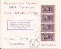 Madagascar 1ere Liaison Tananarive Fianarantsoa Par Compagnie Madair 02 01 1962 - Madagascar (1960-...)