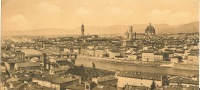 CPA  FIRENZE Carte Panoramique 11 Cm Par 24 Cm - Firenze