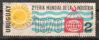 188   URUGUAY 1969-Usado -2º  Feria Mundial De La Industria. - Uruguay