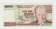 TURKEY 100000 1997 UNC P 206 - Turkey