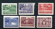 SVERIGE  1935  Parlement 229/234*  Cote Yv. 65 E - Suède
