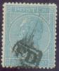N°18 - 20 Centimes Bleu, Annulé Par La Griffe Encadrée PD - 7085 - 1865-1866 Profile Left