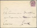 N°46 - 10 Cent. Rouge Obl. Sc BRUXELLES 5 S/L. Du 10 Juillet 1889 Vers Gand - 7094 - 1884-1891 Léopold II