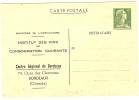 "REF LLICH - EP CP MULLER 12f TSC ""INSTITUT DES VINS - CENTRE DE BORDEAUX"" NEUVE - Postal Stamped Stationery"