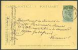 EP Carte-carte 5 Cent. Pellens Démonétisé Réutilisé Avec Timbre N°137 Obl. Sc LIEGE 3 Du 16-VIII-1919 Vers Namur - Enteros Postales
