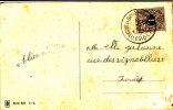 Em.Lion Couché.N°43 Obl.bil.BRUSSEL(L.W)/.BRUXELLES(Q.L)22.XI.1912 S/CP V.Forest EMPLOI TRES TARDIF.TYPE RARE S/ce TP - 1869-1888 Lion Couché