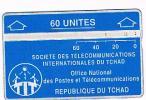 CIAD (CHAD)  - S.T.I.T. / O.N.P.T. (L & G ) - 1993 BLUE 60  CODE 305D  - USED °  -  RIF. 466 - Ciad