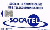 REPUBBLICA CENTRAFICANA - SOCATEL  (CHIP) - LOGO BLUE 60 (NO LOGO MORENO, NO CODE)   - USED -  RIF. 387 - Central African Republic