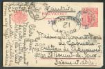 EP 10 Ore Obl. Dc OURSHOLM Le 12-6-1918 Vers Chateau De Chaumont (St-Roumet De Joux - France) + Censure Ouvert Par L'aut - Entiers Postaux