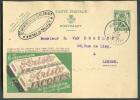 BELGIQUE - EP Carte 35 Cent. Lion Publicité ARISTO JACQUES - CHOCOLAT - 7140 - Alimentation