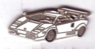 L10 Pin´s Voiture Blanche Lamborghini Countach Achat Immediat - Pin's