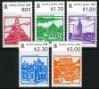Hong Kong #606-10 Mint Hinged Landmarks Set From 1991 - Hong Kong (...-1997)