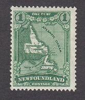 Newfoundland 1931  1 Cent  Green   SG198        MH - 1908-1947