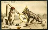 LOT DE 2 CPA. PATRIOTIC N°1054 ET N° 1055. GUERRE 1914-1918. J´y Suis. J´y Reste. // Nos Gosses. - Patriotiques