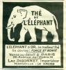 Kleine Reclameadvertentie Uit Oud Magazine 1924 - Thé De L'Eléphant - Laz. Digonnet - Marseille - Reclame
