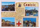 (RECTO/VERSO) LE CROISIC - MULTIVUES AVEC BELLE FLAMME POSTALE AU VERSO - Le Croisic