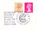 Great Britain 1987 Handstamp On Cover Cricket Pakistan V England Second Test - Cricket