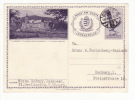 Hungary 1937 Stationery Postcard  Lilafüred Motif 16 F. Budapest To Hamburg (f187) - Ungheria