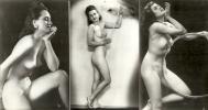Superbe Lot De 5 Photos : Femmes Nues - Signé SL - Beauté Féminine D'autrefois (1941-1960)