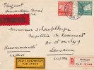 Pays Bas - Lettre Recommandée Expres Avion De 1928 - Valeur 20 Euros ++ - Luftpost