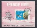 BZ--008 / IV- REP. D´ HAITI - Superbe Feuillet Dentelé - 1 Er HOMME SUR LA LUNE  - APOLLO 11-     Occase A Saisir