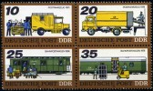 DDR Zdr.  Mi. 2299/2302  Bahnpost  **/MNH - Trains