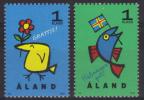 Finlande - Archipel D´Aland N° 107 à 108 Neufs ** - Voeux - Aland