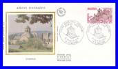 2001 (Yvert) Sur Enveloppe Premier Jour Illustrée Sur Soie - Série Touristique. Abbaye D´Aubazine - France 1978 - FDC