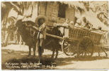 Real Photo Refugees Ready To Leave Rosales, Pangasinan Dec. 24 1941 WWII Against Japanese - Philippines