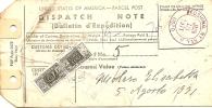 E-BOLLETTINO SPEDIZIONE PACCO DA NAPOLI A NEW YORK  AFFRANCATO CON 400 LIRE PACCHI POSTALI - 6. 1946-.. Repubblica