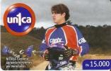 TARJETA  DE VENEZUELA DE MOTOCROS FUN RACE NICOLAS CARDONA  UNICA - Motos