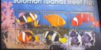 SOLOMON ISLAND  926  MINT NEVER HINGED MINI SHEET OF FISH-MARINE LIFE - Meereswelt