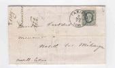 Lettre TP No 30 Simple Cercle TAMINES 1883 Vers NOVILLE S/ MEHAIGNE Via EGHEZEE - Cachet Leroy , Grains  --  RR/240 - 1869-1883 Leopold II
