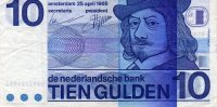NETHERLANDS: 10 GULDEN BANKNOTE, 25-4-1968, P-91 - Paises Bajos
