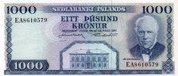 * ICELAND - 1000 KRONUR 1961 UNC - P 46 - Islanda