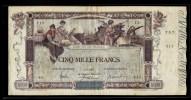 "**Très Rare**5000   FRANCS  ""FLAMENG"" TTB+ Du 7 1 1918      F43 - 1871-1952 Gedurende De XXste In Omloop"
