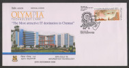 India 2006  COMPUTER CACHET OLYMPIA TECHNOLOGY PARK  CHENNAI  Special Cover # 26657 Indien Inde - Computers