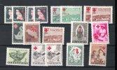 LOT DE TIMBRES DE BIENFAISANCE CROIX-ROUGE ROTES KREUZ RED CROSS YOUGOSLAVIE 1947-1950 - Unclassified