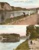 Namur Wepion Vue Vers Dave Et Vue Sur La Meuse 2 Cartes Couleur Et Animée - Namur