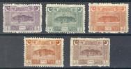Turkey/Turquie/Türkei 1923, Building In Ankara - Regular Issue *, MLH, 5 Values Of 6 - Nuevos